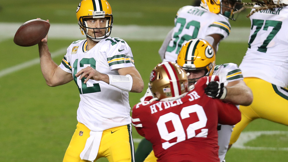 Aaron Rodgers leads Packers past undermanned 49ers, 34-17 | KMPH