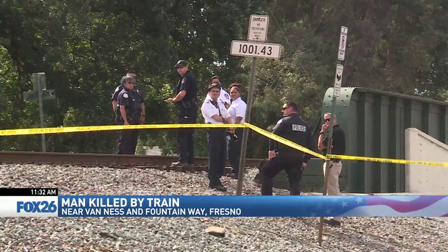 Fresno police investigating after train hits, kills man