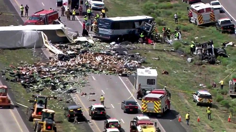 Fresno based truck involved in deadly Greyhound bus crash | KMPH