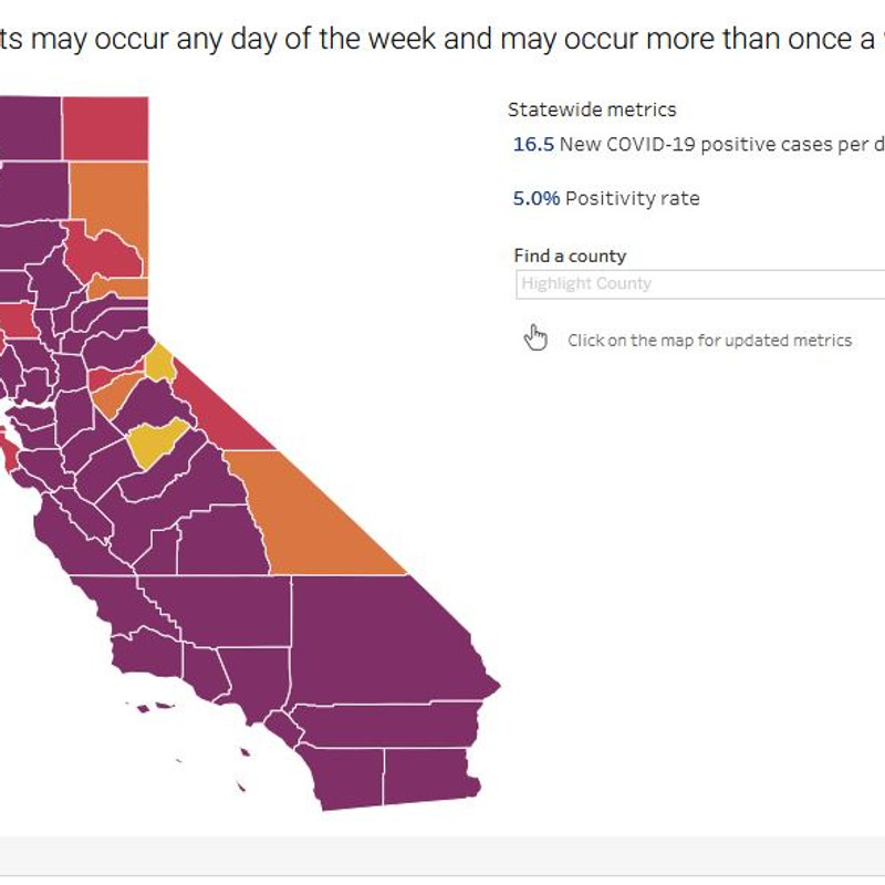 40 California Counties In Purple Tier Including The Central Valley Kmph