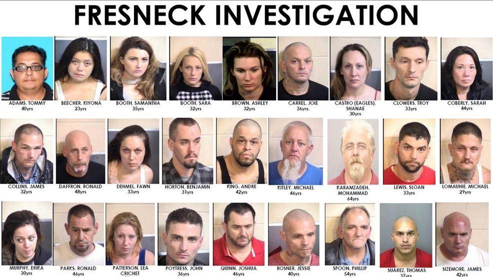 Fresno Police arrest 30 Fresneck gang members, seize several