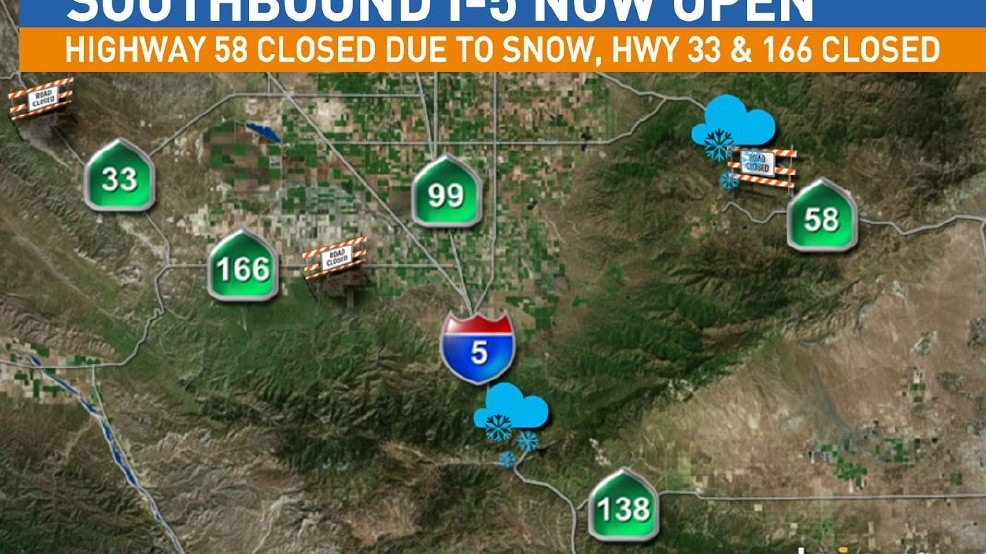 UPDATE: Interstate 5 Over The Grapevine Reopened | KMPH
